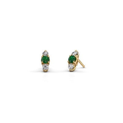 Picture of Earrings Amie 375 gold emerald 4 mm