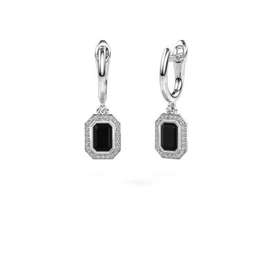 Foto van Oorhangers Noud EME 950 platina zwarte diamant 0.84 crt