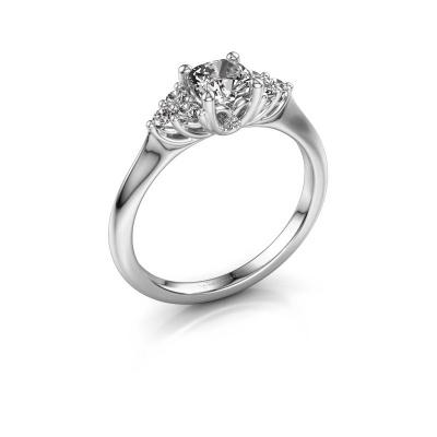 Verlovingsring Felipa CUS 585 witgoud lab-grown diamant 0.693 crt