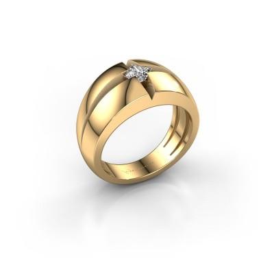 Foto van Heren ring Rens 375 goud diamant 0.25 crt