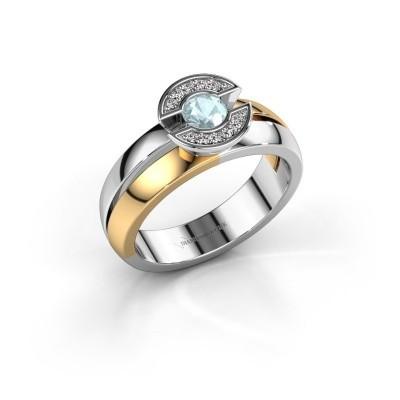Foto van Ring Jeanet 1 585 goud aquamarijn 4 mm