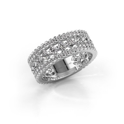 Verlovingsring Elizbeth 2 585 witgoud lab-grown diamant 1.785 crt