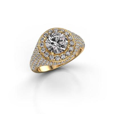 Foto van Ring Dayle 585 goud zirkonia 7 mm