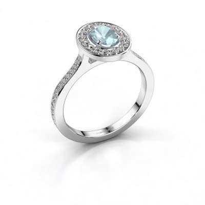 Picture of Ring Madelon 2 585 white gold aquamarine 7x5 mm