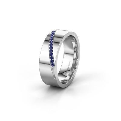 Trouwring WH2146L17A 925 zilver saffier ±7x1.7 mm