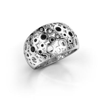 Ring Jaylinn 2 950 platina zwarte diamant 0.324 crt