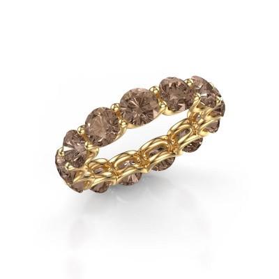 Foto van Ring Kirsten 5.0 375 goud bruine diamant 6.50 crt