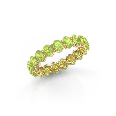 Ring Kirsten OVL 4x3 375 Gold Peridot 4x3 mm