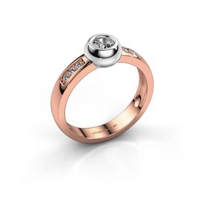 Ring Charlotte Round 585 rosé goud diamant 0.340 crt