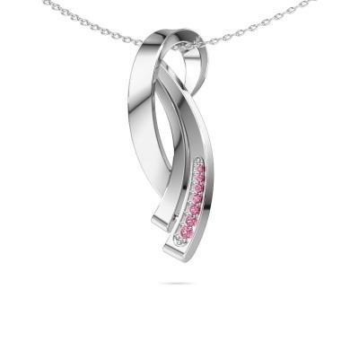 Bild von Kette Lida 925 Silber Pink Saphir 1 mm