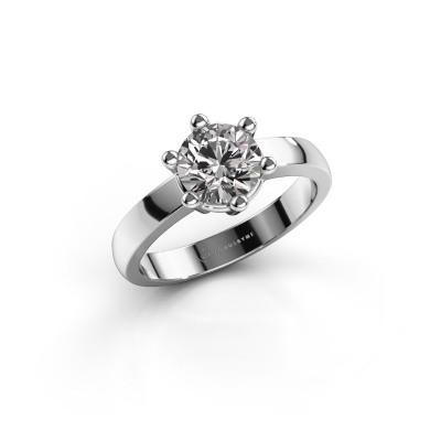 Foto van Verlovingsring Luna 1 585 witgoud diamant 1.00 crt