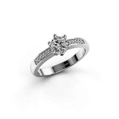 Verlovingsring Luna 2 950 platina diamant 0.40 crt