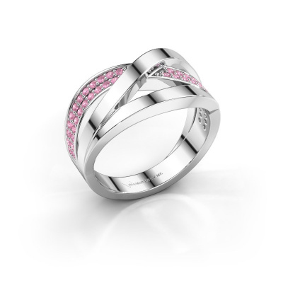 Ring Amira 925 silver pink sapphire 1.2 mm