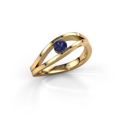 Foto van Ring Sigrid 1 585 goud saffier 4 mm
