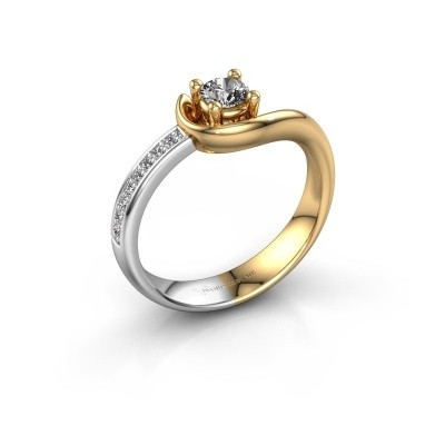 Foto van Ring Ceylin 585 goud zirkonia 4 mm