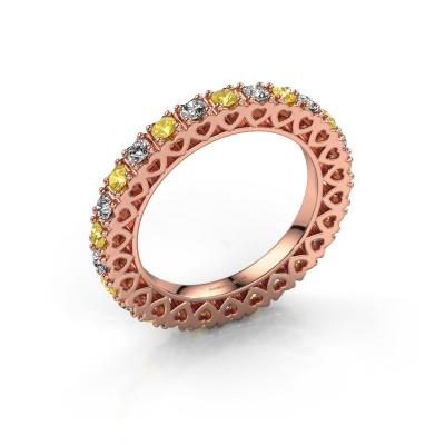 Stackable ring Hailey 585 rose gold yellow sapphire 2.2 mm