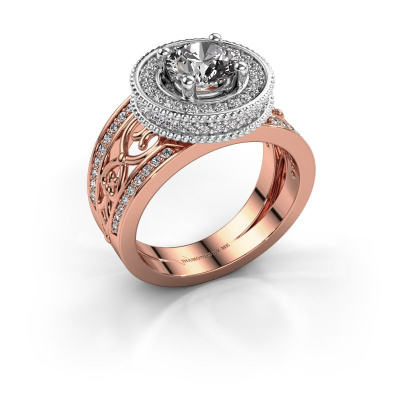Ring Joy 585 rosé goud zirkonia 6.5 mm