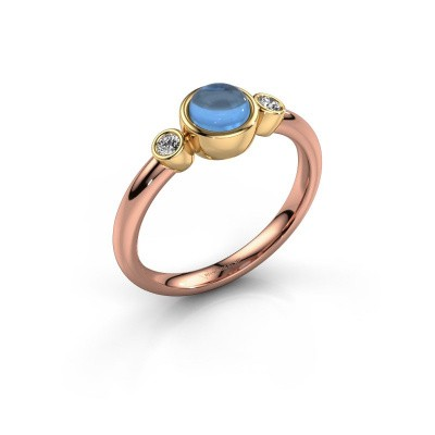 Ring Muriel 585 rose gold blue topaz 5 mm