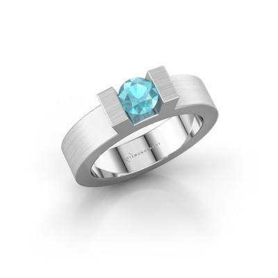 Picture of Ring Leena 1 585 white gold blue topaz 5 mm