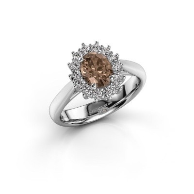 Picture of Engagement ring Margien 1 585 white gold brown diamond 0.80 crt