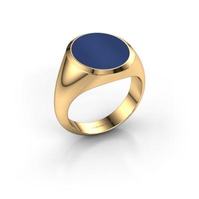 Foto van Zegelring Herman 5 585 goud lapis lazuli 15x13 mm