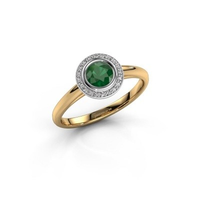 Picture of Promise ring Noud 1 RND 585 gold emerald 4.7 mm