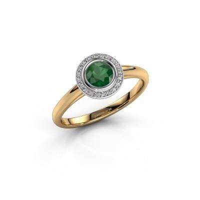 Foto van Promise ring Noud 1 RND 585 goud smaragd 4.7 mm