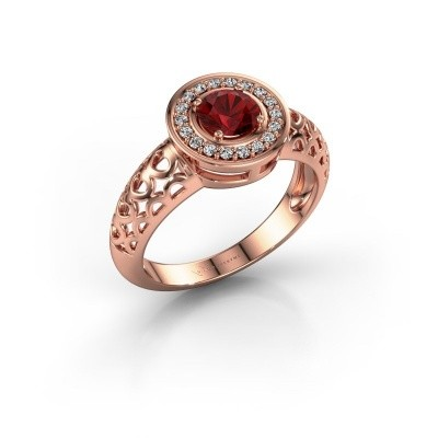Foto van Ring Katalina 375 rosé goud robijn 5 mm