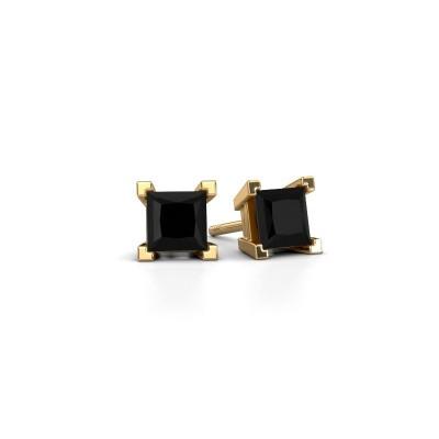 Foto van Oorknopjes Ariane 585 goud zwarte diamant 1.872 crt