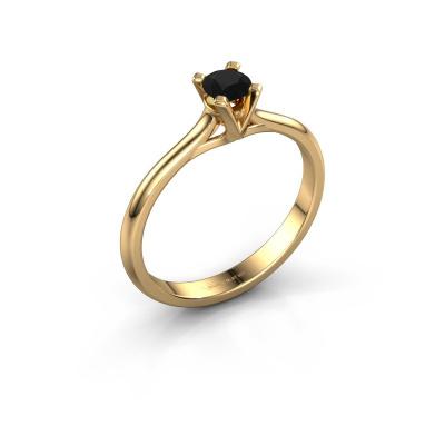Verlovingsring Isa 1 585 goud zwarte diamant 0.30 crt