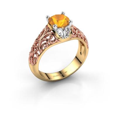 Ring Mirte 585 goud citrien 6.5 mm