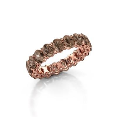 Aanschuifring Heddy OVL 3.5x4.5 375 rosé goud bruine diamant 3.990 crt