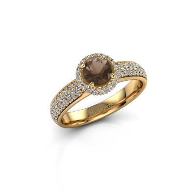 Engagement ring Mildred 375 gold smokey quartz 5 mm