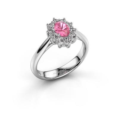 Bild von Verlobungsring Leesa 1 585 Weißgold Pink Saphir 6x4 mm
