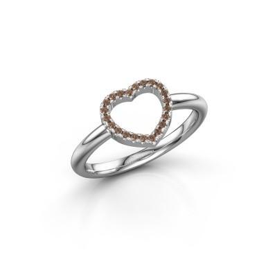 Bild von Ring Heart 7 585 Weissgold Braun Diamant 0.11 crt