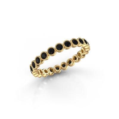 Foto van Ring Mariam 0.03 375 goud zwarte diamant 0.828 crt