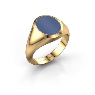 Picture of Signet ring Herman 2 F 585 gold blue sardonyx 12x10 mm