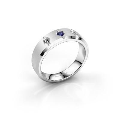 Foto van Heren ring Remco 925 zilver saffier 2.7 mm