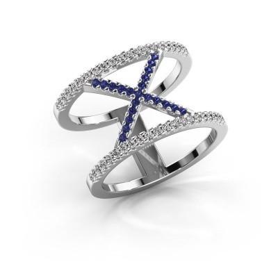 Ring Sharri 2 925 zilver saffier 1.1 mm