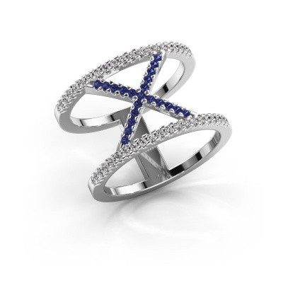 Ring Sharri 2 925 silver sapphire 1.1 mm