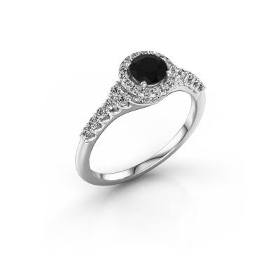Foto van Verlovingsring Loralee 585 witgoud zwarte diamant 0.973 crt