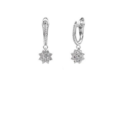 Photo de Pendants d'oreilles Camille 2 585 or blanc diamant synthétique 0.565 crt