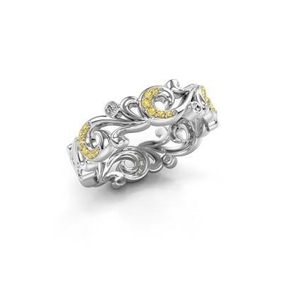 Foto van Ring Svetlana 925 zilver gele saffier 0.9 mm