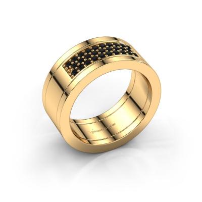 Ring Marita 3 585 goud zwarte diamant 0.348 crt