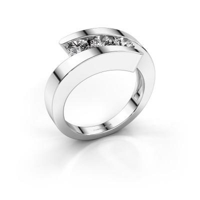 Foto van Ring Gracia 585 witgoud diamant 0.75 crt