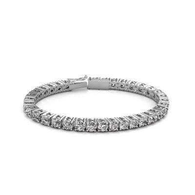 Bild von Tennis Armband Karin 5 mm 750 Weißgold Lab-grown Diamant 17.00 crt