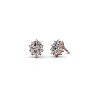 Earrings Leesa 375 rose gold lab grown diamond 1.60 crt