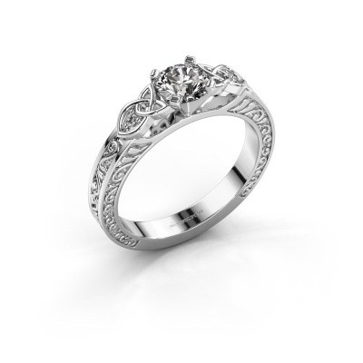 Picture of Engagement ring Gillian 585 white gold lab-grown diamond 0.52 crt
