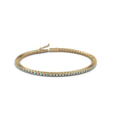 Tennis bracelet Simone 375 gold blue topaz 2 mm