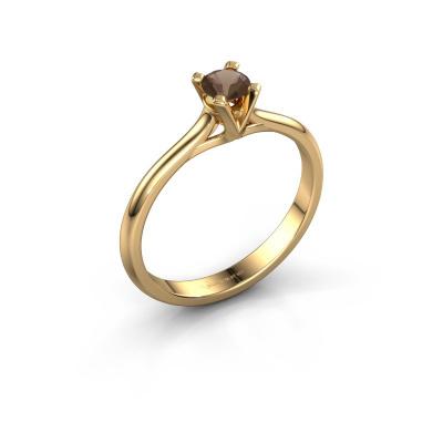 Verlovingsring Isa 1 585 goud rookkwarts 4 mm